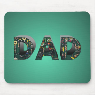 Computer Circuit Board Dad Mouse Pad