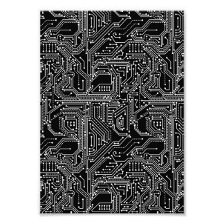 Computer Circuit Board Photo Print