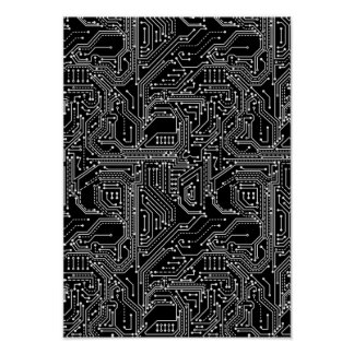 Computer Circuit Board Poster