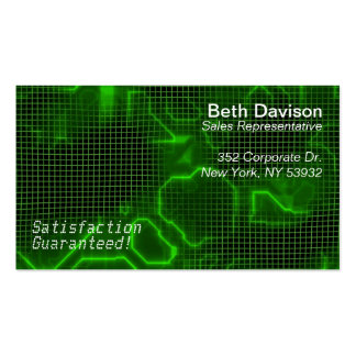 Computer Circuit Board Textured Business Card Template