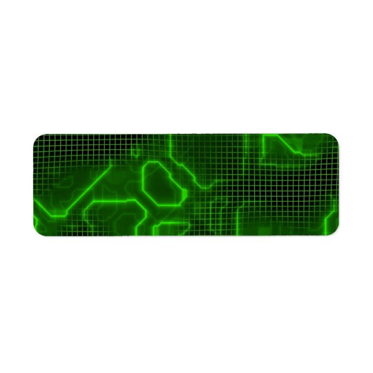 Computer Circuit Board Textured Return Address Label