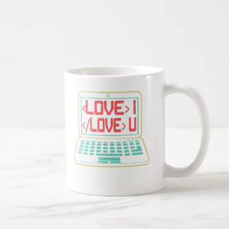 Computer Code I Love You for Techies Coffee Mug