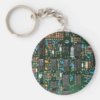 Computer Electronics Printed Circuit Board Key Ring