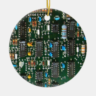 Computer Electronics Printed Circuit Board X2 Ceramic Ornament