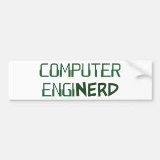 Computer Engineer Enginerd Bumper Sticker