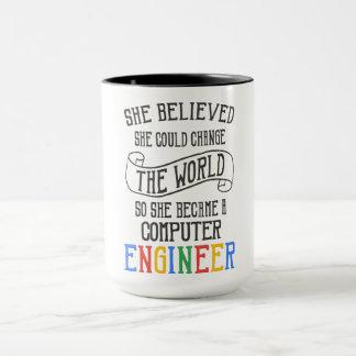 Computer Engineer - She Believed She Could Mug