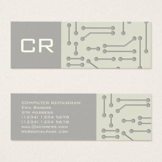 Computer expert cyber tech futuristic cover mini business card