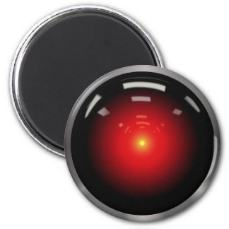 Computer Eye Artificial Intelligence 6 Cm Round Magnet