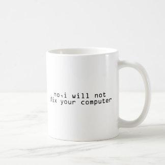 Computer Fixer Techie Geek Basic White Mug
