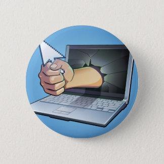 Computer Frustration 6 Cm Round Badge