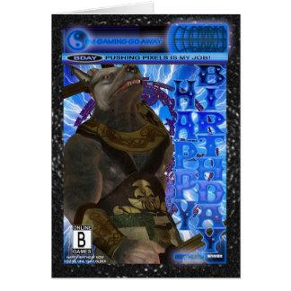 Computer Game Fan Birthday Card