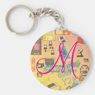 Computer Game Theme Wedding Key Ring