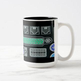 Computer Geek Black Input Pattern Mug Two-Tone Mug