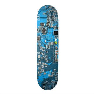 Computer Geek Circuit Board - blue Skateboards