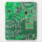 Computer Geek Circuit Board - green Mouse Pad