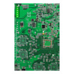Computer Geek Circuit Board - green Poster