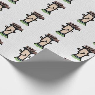 Computer Geek Funny Cartoon Nerd Guy Binary Code Wrapping Paper