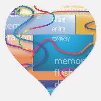 Computer Geek Heart Sticker