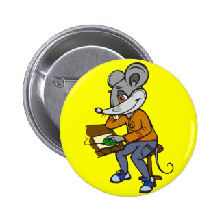 Computer Geek Mouse 6 Cm Round Badge