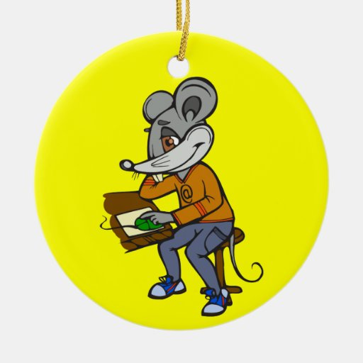 Computer Geek Mouse Christmas Tree Ornament