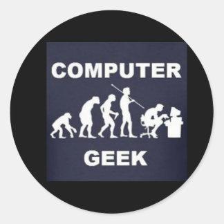 Computer Geek Tag Sticker