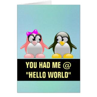 Computer Geek Valentine: Programming Language Love Stationery Note Card
