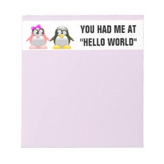 Computer Geek Valentine: Programming Language Love Note Pad