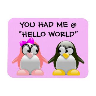 Computer Geek Valentine: Programming Language Love Rectangular Photo Magnet