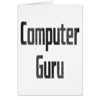 Computer Guru Grey Card