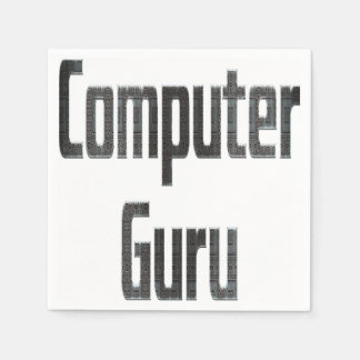 Computer Guru Grey Disposable Serviette