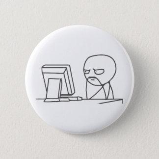 Computer Guy Meme - Pinback Button