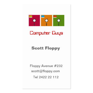 Computer Guy Pack Of Standard Business Cards