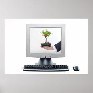 COMPUTER, HAND POSTER