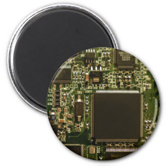 Computer Hard Drive Circuit Board 6 Cm Round Magnet