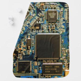 Computer Hard Drive Circuit Board blue Baby Blanket