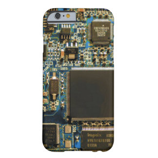Computer Hard Drive Circuit Board blue Barely There iPhone 6 Case