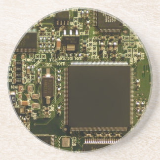 Computer Hard Drive Circuit Board Sandstone Coaster