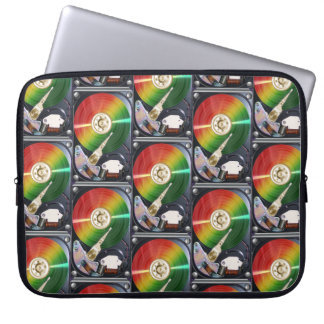 Computer Hard Drive Collage Laptop Computer Sleeves