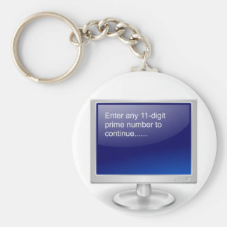 Computer Humor Basic Round Button Key Ring