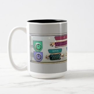 Computer Input Console Coffee Mug Two-Tone Mug