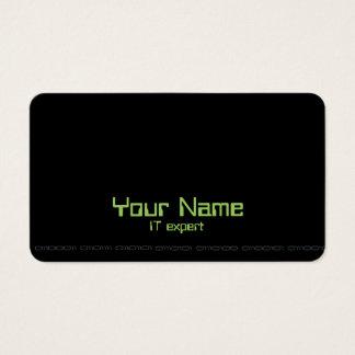 Computer IT expert business card
