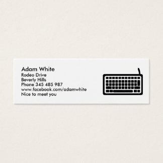 Computer keyboard mini business card