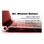 Computer Laptop Keyboard Technician Teacher Info Business Card Templates