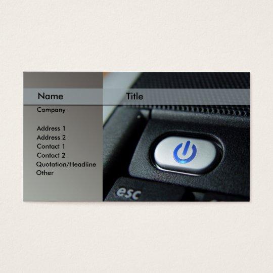 computer / laptop - technician business card