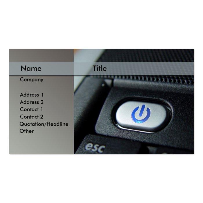 computer / laptop - technician pack of standard business cards