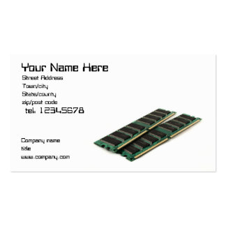 Computer memory business card