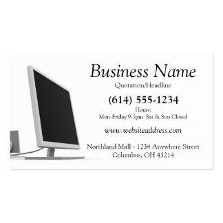 Computer Monitor Business Card Design 2