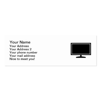 Computer monitor pack of skinny business cards
