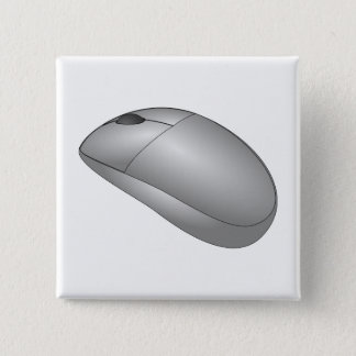 Computer Mouse 15 Cm Square Badge