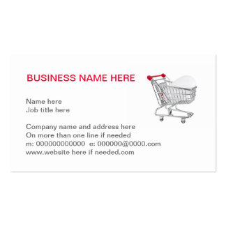computer mouse in a supermarket shopping trolley Double-Sided standard business cards (Pack of 100)